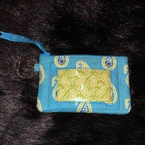 Bermduda Blue Vera Bradley ID Wallet